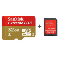Sandisk 32gb Extreme Plus Microsd Adaptador Sd Blister Gopro