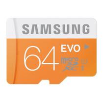 Memoria Micro Sd Samsung Evo 64 Gb Clase 10 48mb/s +sd