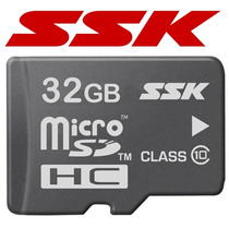 Memoria Micro Sd Hc 32gb Clase 10 Con Adaptador Ssk Original
