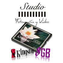 Tarjeta De Memoria Compact Flash Kingston De 8 Gb Cf/8gb