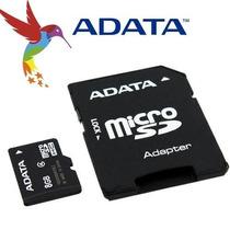 Memoria Micro Sdhc Adata 8gb Adaptador Cl4 (ausdh8gcl4-ra1)