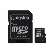 Memoria Micro Sd 8 Gb Sdhc Kingston Para Celulares Camaras