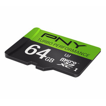 Memoria Micro Sd Xc 64gb Uhs-i U3 Clase 10 Pny 90mb/s Uhd 4k