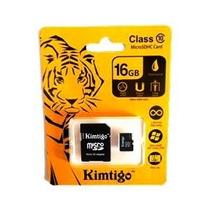 Memoria Micro Sd 16 Gb Clase 10 Kimtigo Adaptador Sd Celular