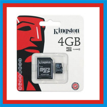 Memoria Micro Sd 4gb Hc Kingston Adaptador Telefonía