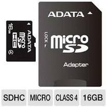 Memoria Micro Sdhc Adata 1gb Adaptador Cl4 (ausdh16gcl4-ra1)