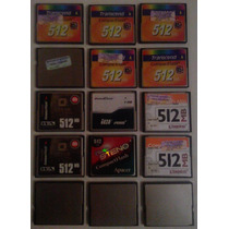 Memorias Compact Flash 512mb Muy Poco Uso. Entrega Gratis Df