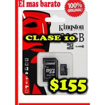 Micro Sd 32gb Clase 10 Kingston Nueva-original$155 El Mejor$