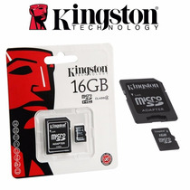 Memorias Micro Sd 16gb Kingston Para Celular Computadora Mp3