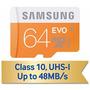 Memoria Microsd Samsung Evo 64gb Clase 10 48mb/s +adptdor Sd