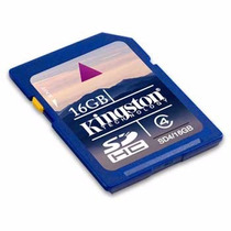 Kingston Memoria Sdhc 16gb Clase 4 Hd Video Sd4/16gb