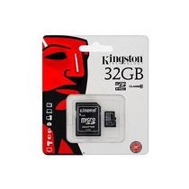 Memoria Micro Sd 32gb Kingston Clase 10 Nueva Con Blister