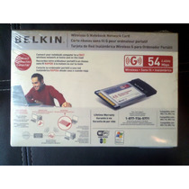 Belkin Tarjeta De Red Inalambrica Wireless G Para Laptop