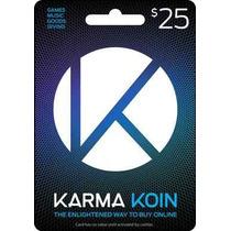 Tarjeta Gift Card Karma Koin 25 Usd Juegos Y Musica En Linea