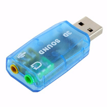 Tarjeta Sonido 5.1 Canal Usb Audio Virtual 3d Plug And Play