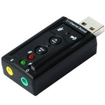 Tarjeta De Audio Externa Premium Usb Audio Con Botones