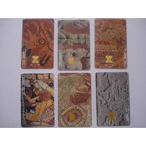6 Tarjetas Ladatel Coleccion X Aniversario Museo Amparo