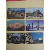 6 Tarjetas De Coleccion Viva Mexico Zonas Arqueologicas