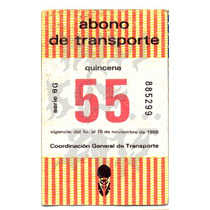 Roli Kustoms Boleto Abono Transporte Ruta 100 Metro Df 55