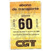 Roli Kustoms Boleto Abono Transporte Ruta 100 Metro Df 60
