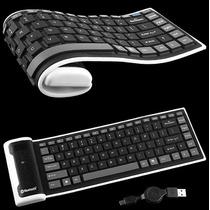 Mini Teclado Flexible Con Bluetooth Mac Ipad Iphone