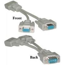 Cable Video Splitter Vga, Conecta 2 Monitores Vga A Tu Pc