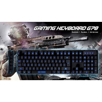 Teclado Gamer Con Luz Led 3 Colores Eagle Warrior G78 Usb