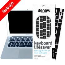 Protector De Teclado Inglés Keyboard Lifesaver Negro 11¨