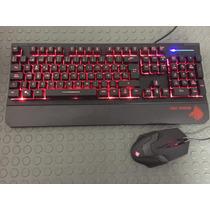 Kit Gaming Teclado Mouse Gamer Con Luz Eagle Warrior Usb