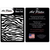 El Estampado De Zebra - Negro Y Blanco Alfombrilla De Ratón
