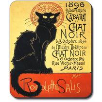 Arte Plates® Marca Alfombrilla De Ratón Con Chat Noir Design