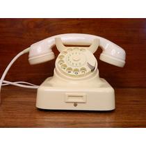 Teléfono Aleman Antiguo Hagenuck Kiel Post W49 Bakelita