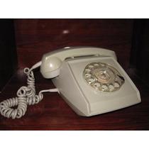Antiguo Telefono De Disco De Los Años 70s Color Gris