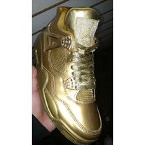 Air Jordan Retro 4 Custom Gold