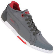 Tenis Puma Ducati Xelerate Choclo Piel Gris Adulto Low Gym