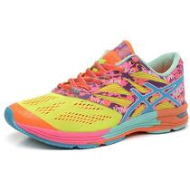 Asics Gel Nossa Tri 10 Running Fitness Dama Naranja/amarillo