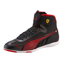 Tenis Puma Speed Cat Ferrari Super Lite Bota Negro Rojo Gym