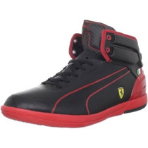 Tenis Puma Power Driving Ligth Ferrari Bota Black Piel Gym