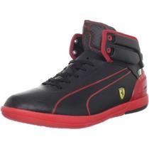 Tenis Puma Power Driving Ligth Ferrari Bota Black Piel Hm4
