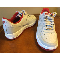 Nike Air Force One Gris/rojo Talla 25 Cm Originales