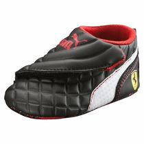 Baby Tenis Puma Drif Cat 6 Ferrari Black & White Bebe Gym