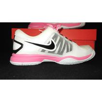 Tenis Nike Zoom Courtlite 3 Blancos Con Rosa Num 22.5 Super