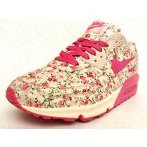 Mujer Tenis Nike Air Max 90 Hyperfuse Flowers Print Pink