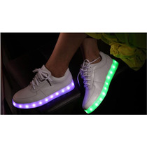 Tenis Colores Intercambiables Leds Usb Kpop Snsd Antro Party