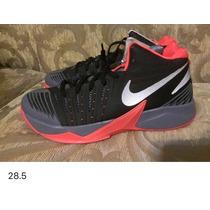 Tenis Para Caballero Nike!!!! De Bota Negro Con Rojo Y Gris