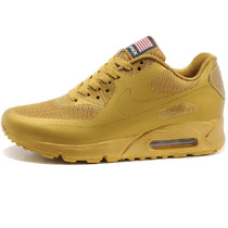 Tenis Nike Air Max 90 Indenpendece Day Total Gold Hyperfuse