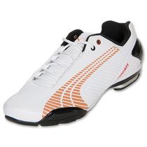 Tenis Puma Ducati Testastretta Iii Blanco Naranja Origin Gym