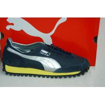 Puma Fast Rider Azul/plata/amarillo Tallas 25, 26.5 Y 27mx