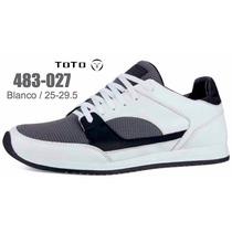 Tenis Toto Para Caballero Color Blanco V