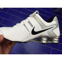 Tenis Nike Shox Blanco Plata Originales Caballero